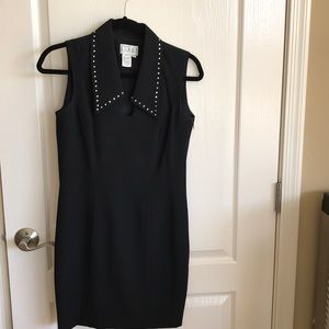 Kenar Black Dress with rhinestones